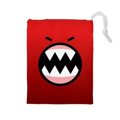 Funny Angry Drawstring Pouches (large)