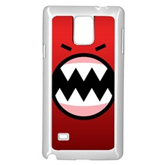 Funny Angry Samsung Galaxy Note 4 Case (white)