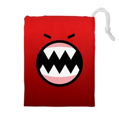Funny Angry Drawstring Pouches (extra Large)