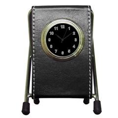 Black Pen Holder Desk Clocks