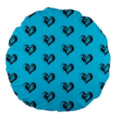 Lovely Hearts 17f Large 18  Premium Round Cushions