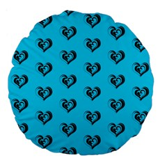 Lovely Hearts 17f Large 18  Premium Flano Round Cushions