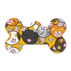 Cats Cute Kitty Kitties Kitten Dog Tag Bone (one Side)