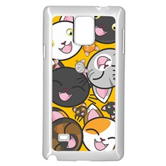 Cats Cute Kitty Kitties Kitten Samsung Galaxy Note 4 Case (white)