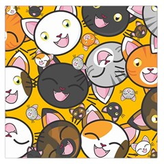 Cats Cute Kitty Kitties Kitten Large Satin Scarf (square)