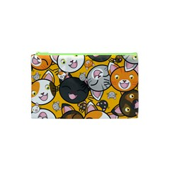 Cats Cute Kitty Kitties Kitten Cosmetic Bag (xs)