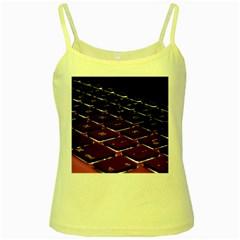 Computer Keyboard Yellow Spaghetti Tank