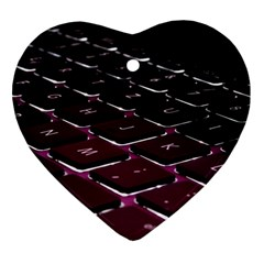 Computer Keyboard Heart Ornament (two Sides)