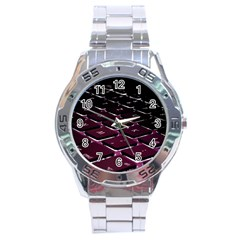 Computer Keyboard Stainless Steel Analogue Watch
