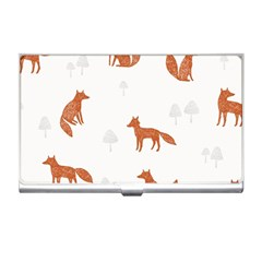 Fox Animal Wild Pattern Business Card Holders