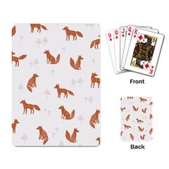 Fox Animal Wild Pattern Playing Card