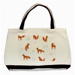 Fox Animal Wild Pattern Basic Tote Bag