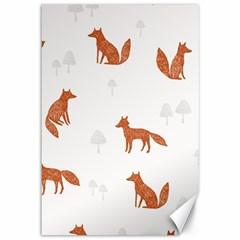 Fox Animal Wild Pattern Canvas 12  X 18