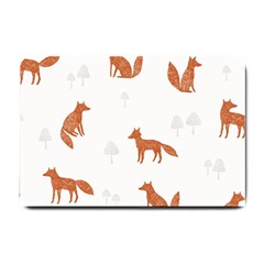 Fox Animal Wild Pattern Small Doormat