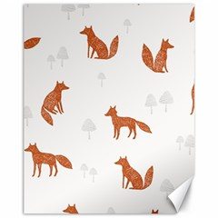 Fox Animal Wild Pattern Canvas 11  X 14