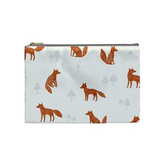 Fox Animal Wild Pattern Cosmetic Bag (medium)