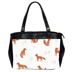 Fox Animal Wild Pattern Office Handbags (2 Sides)
