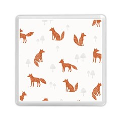 Fox Animal Wild Pattern Memory Card Reader (square)