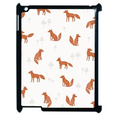 Fox Animal Wild Pattern Apple Ipad 2 Case (black)