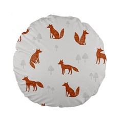 Fox Animal Wild Pattern Standard 15  Premium Flano Round Cushions