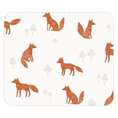 Fox Animal Wild Pattern Double Sided Flano Blanket (small)