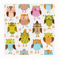 Cute Owls Pattern Medium Glasses Cloth