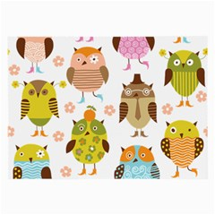Cute Owls Pattern Large Glasses Cloth (2 Side)