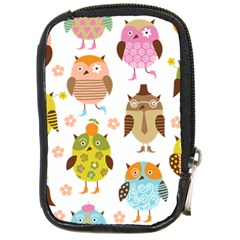 Cute Owls Pattern Compact Camera Cases