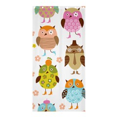 Cute Owls Pattern Shower Curtain 36  X 72  (stall)