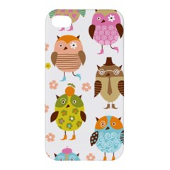 Cute Owls Pattern Apple Iphone 4/4s Hardshell Case