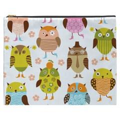 Cute Owls Pattern Cosmetic Bag (xxxl)