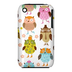 Cute Owls Pattern Iphone 3s/3gs