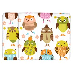Cute Owls Pattern Samsung Galaxy Tab 8 9  P7300 Flip Case