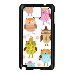 Cute Owls Pattern Samsung Galaxy Note 3 N9005 Case (black)