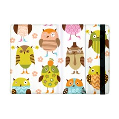 Cute Owls Pattern Ipad Mini 2 Flip Cases
