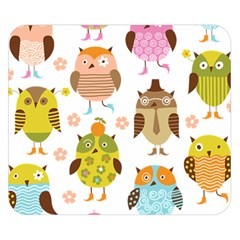 Cute Owls Pattern Double Sided Flano Blanket (small)