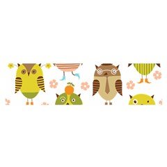 Cute Owls Pattern Satin Scarf (oblong)