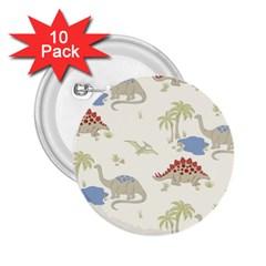 Dinosaur Art Pattern 2 25  Buttons (10 Pack)
