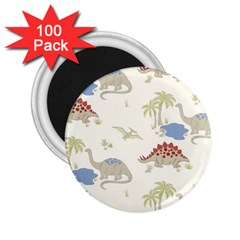 Dinosaur Art Pattern 2 25  Magnets (100 Pack)