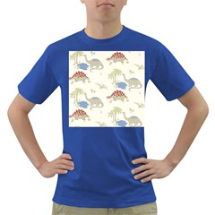 Dinosaur Art Pattern Dark T Shirt