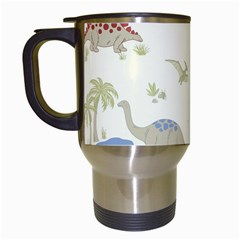 Dinosaur Art Pattern Travel Mugs (white)