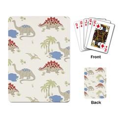 Dinosaur Art Pattern Playing Card