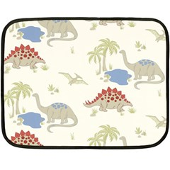 Dinosaur Art Pattern Fleece Blanket (mini)