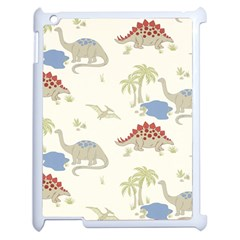 Dinosaur Art Pattern Apple Ipad 2 Case (white)