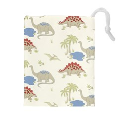 Dinosaur Art Pattern Drawstring Pouches (extra Large)