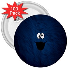 Funny Face 3  Buttons (100 Pack)