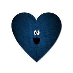 Funny Face Heart Magnet