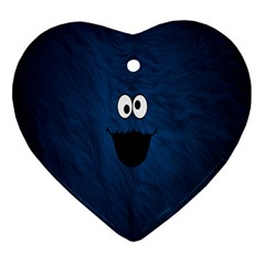 Funny Face Heart Ornament (two Sides)