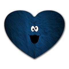 Funny Face Heart Mousepads