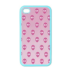 Alien Pattern Pink Apple Iphone 4 Case (color)